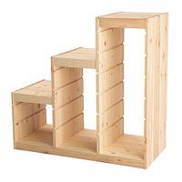 стеллаж для игрушек ТРУФАСТ сосна, белый ИКЕА, IKEA
