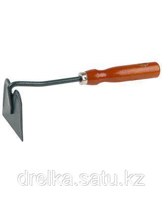 Тяпка мотыга GRINDA 8-421231_z01, прямое лезвие, из углеродистой стали с деревянной ручкой, 250 мм