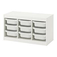 стеллаж для игрушек ТРУФАСТ белый ИКЕА, IKEA, фото 1