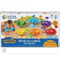Набор для сортировки «Цветные гнездышки» BIRDS IN NEST