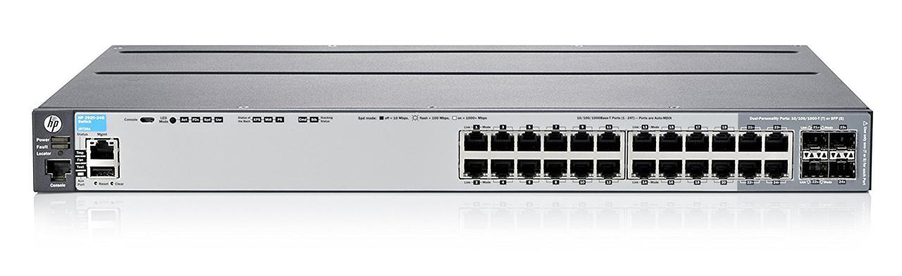 HPE J9726A Коммутатор Enterprise Aruba 2920-24G Switch (комплект с Stack Mod+Cable