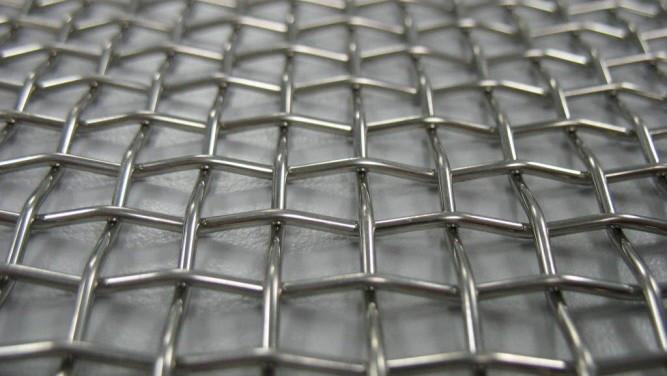 Сетка нержавеющая тканая с квадратными ячейками микронных размеров