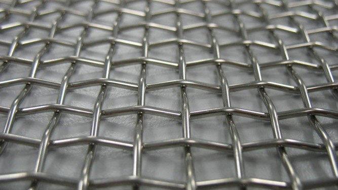 Сетка нержавеющая тканая с квадратными ячейками средних размеров, фото 2