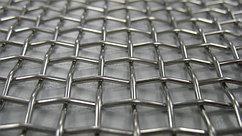 Сетка нержавеющая тканая с квадратными ячейками среднего размера