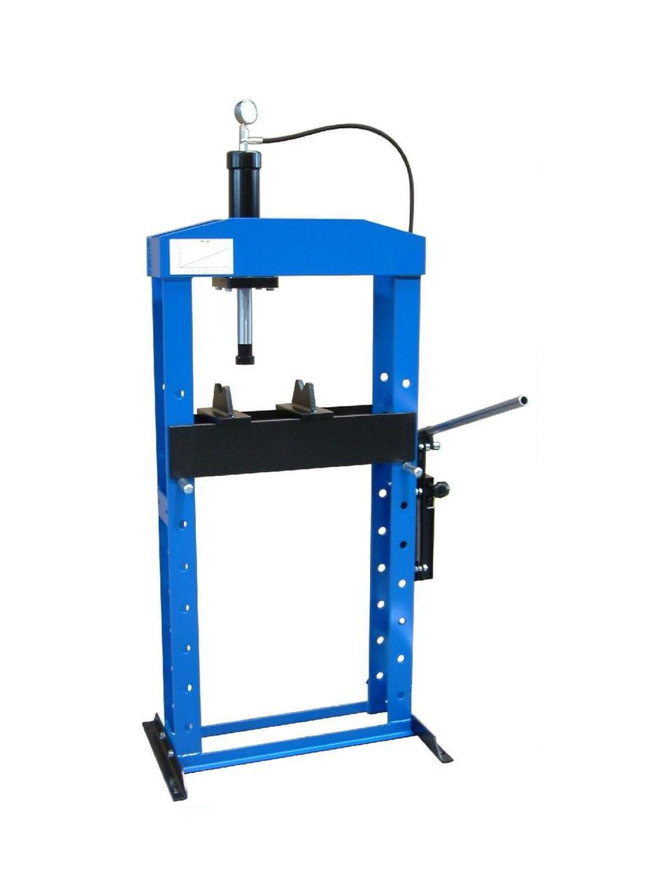 Гидравлический пресс, напольный, усилие 10т. WERTHER PR10/PM (OMA651B)