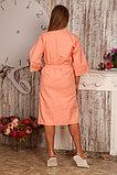 Женский вафельный банный халат. Персиковый. Кимоно. Россия. , фото 2