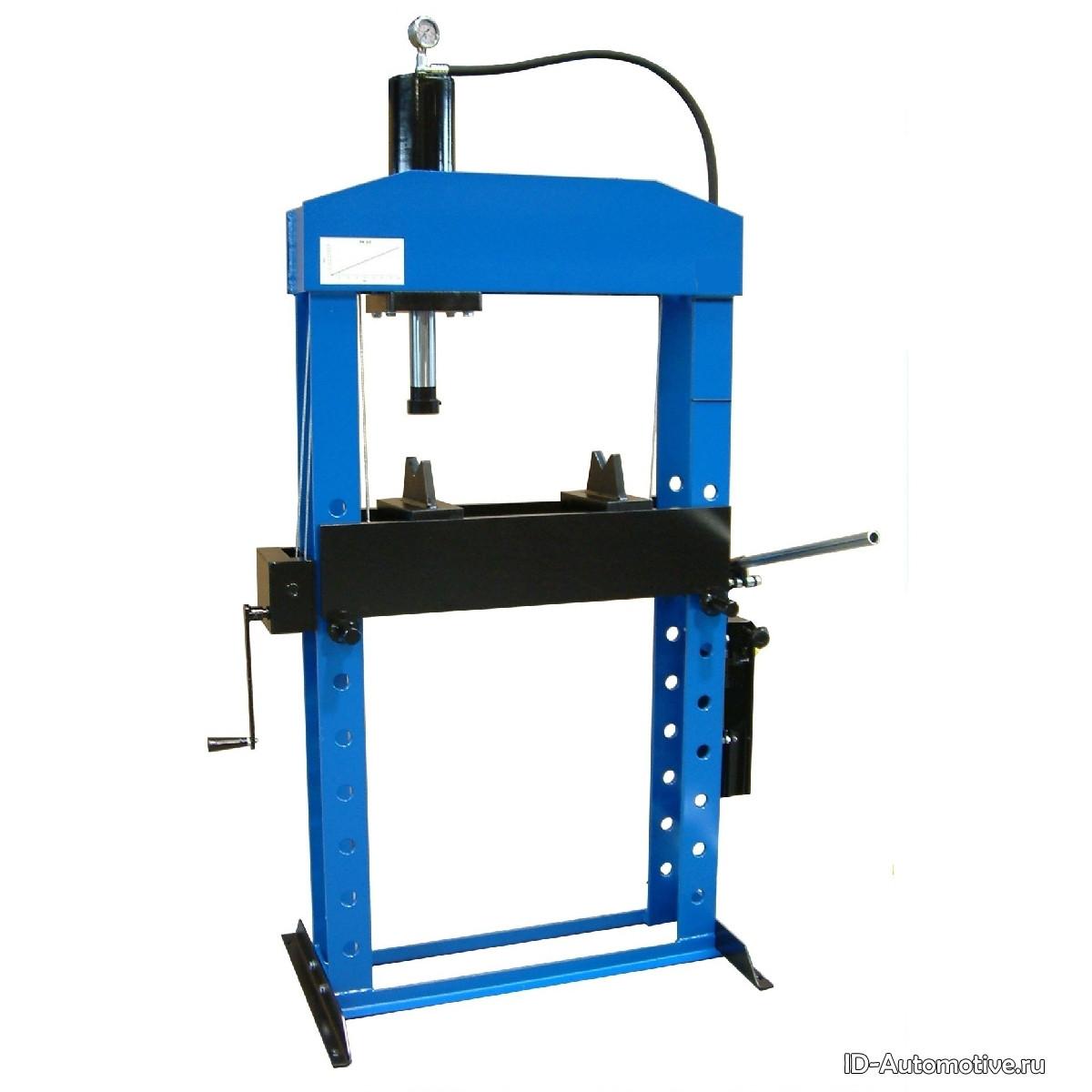 Гидравлический пресс, напольный, усилие 30т. WERTHER PR30/PM (OMA656B)