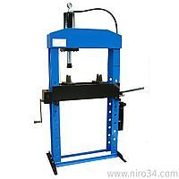 Гидравлический пресс, напольный, усилие 50т. WERTHER PR50/PM (OMA658B)