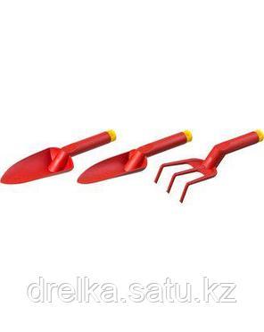 Набор GRINDA: Совок посадочный широкий, совок посадочный узкий, рыхлитель с нейлоновым корпусом, 3 предмета , фото 2