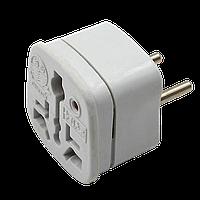 Переходник электрический ЕВРО GN-103A,белый
