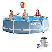 Бассейн каркасный круглый 305х76 см с фильтр-насосом, Intex 28702/26702