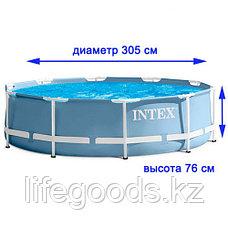 Бассейн каркасный круглый 305х76 см с фильтр-насосом, Intex 28702/26702, фото 3