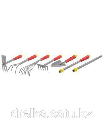 Набор садовых инструментов GRINDA 8-421477-H7_z01, из углеродистой стали, с коннекторной системой, 7 предметов