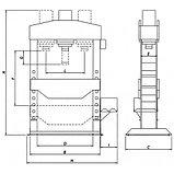 Электрогидравлический пресс, усилие 150т. WERTHER PRM150/PM (OMA667B) , фото 2