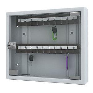 Ключницы со стеклянной дверью производства России (пластиковые планки) КЛС