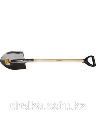 Лопата штыковая GRINDA 285х205х1200мм, черенок в/с, пласт. ручка, 421823