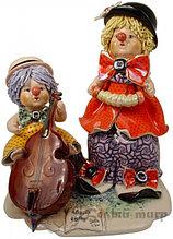 Статуэтка Клоуны-музыканты. Керамика. Ручная работа. Италия