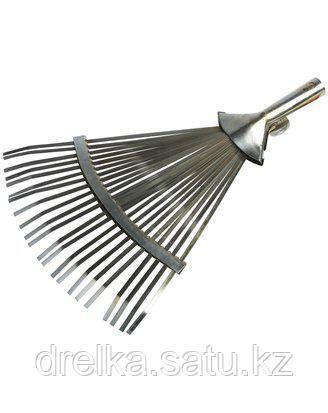 Грабли веерные GRINDA 8-421875_z01, регулируемые, 22 плоских зубца, 320 - 420 мм , фото 2