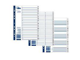 Разделители документов Forpus, РР А4, 1-15, серый