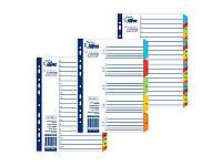 Разделители документов Forpus, РР, А4, 1-5 цветные