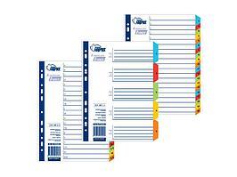 Разделители документов Forpus, РР, А4, 1-10 цветные