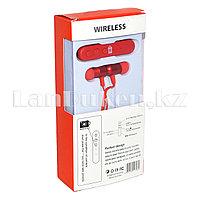 Беспроводные вакуумные Bluetooth наушники Metallic красные