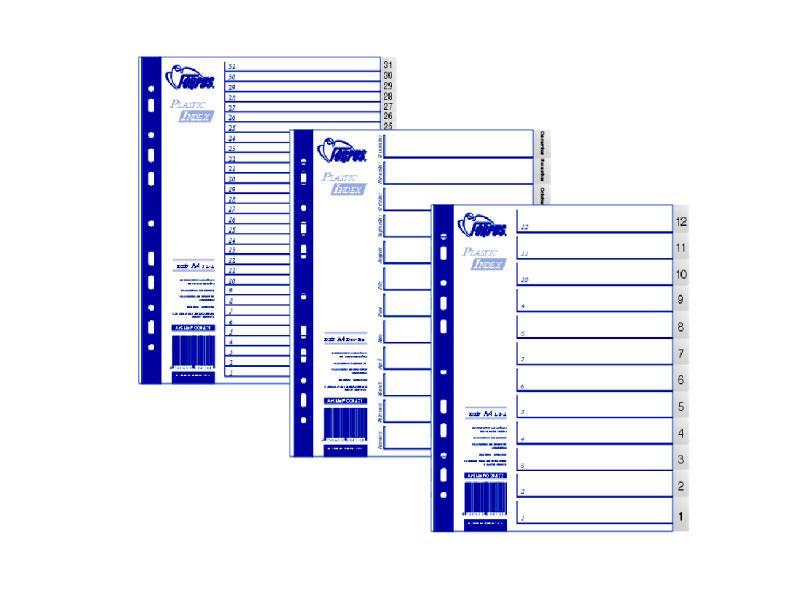 Разделители документов А4, 10-1 (обратные)