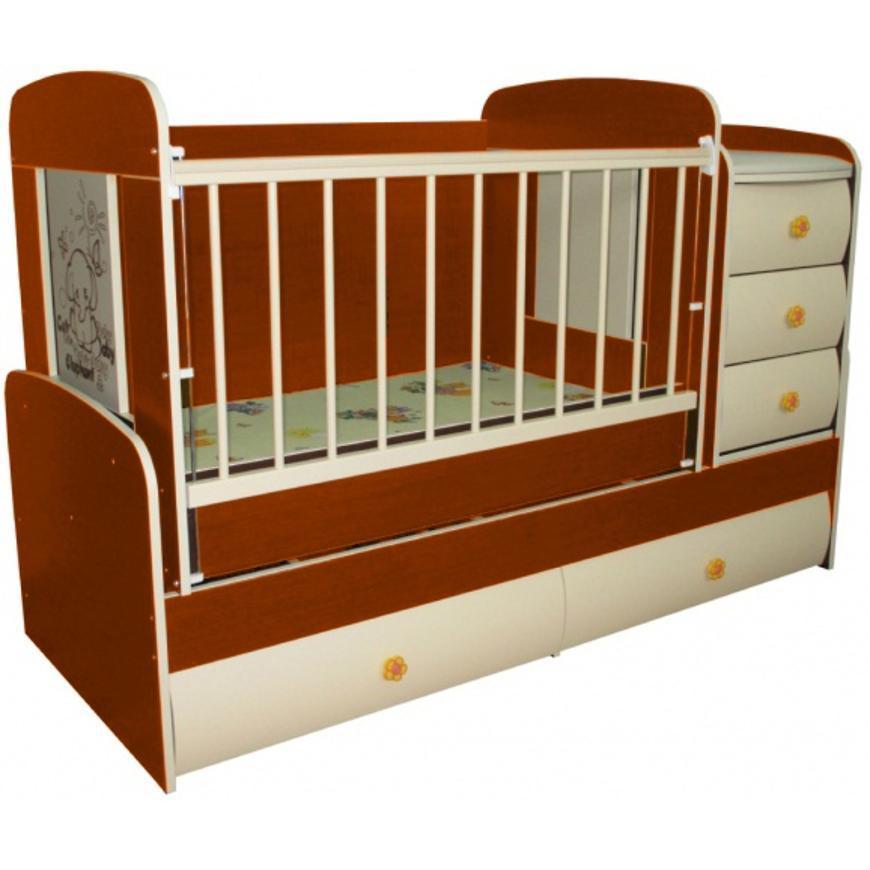 Кроватка-трансформер MULTY VIP (яблоня локарно)