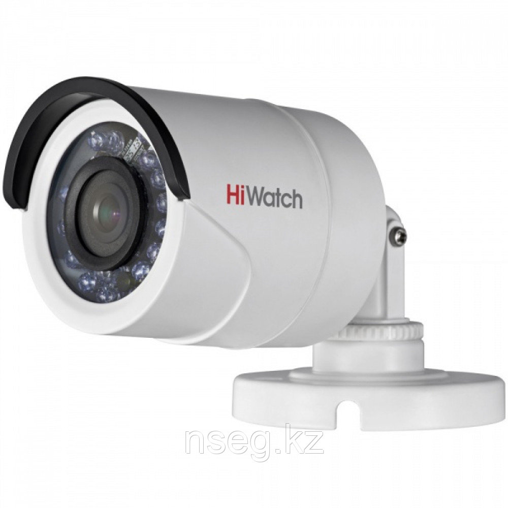 HiWatch DS-T100 1Мп уличная цилиндрическая HD-TVI камера с ИК-подсветкой до 20м