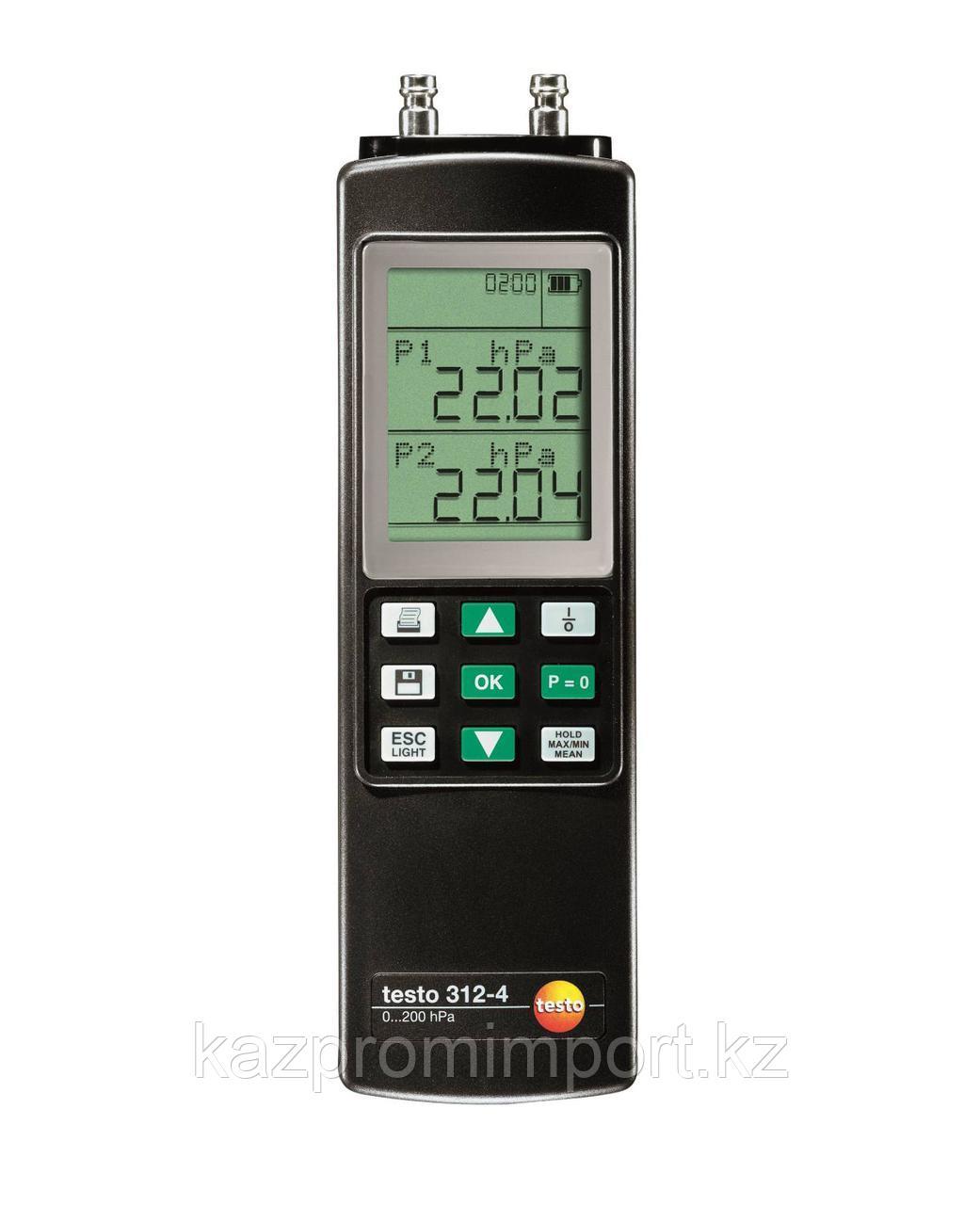 Testo 312-4 - Дифференциальный манометр