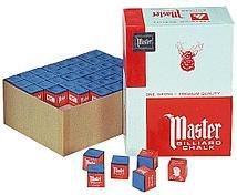 Мел для бильярда синий Master Billiard Chalk упаковка 144 шт
