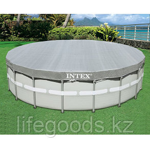 Тент - чехол для круглого каркасного бассейна диаметром 488 см, Intex 28040, фото 2
