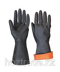 Перчатки резиновые черные Размер L