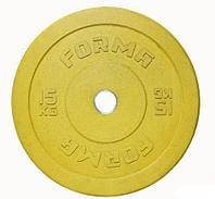 Диск бамперный Forma 15 кг желтый
