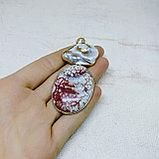 Кулон из агата и натурального недозревшего жемчуга, фото 3