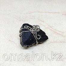 Кулон из чёрного турмалина