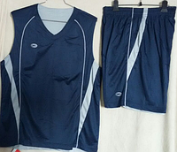 Баскетбольная форма - двусторонняя 4XL синий/серый