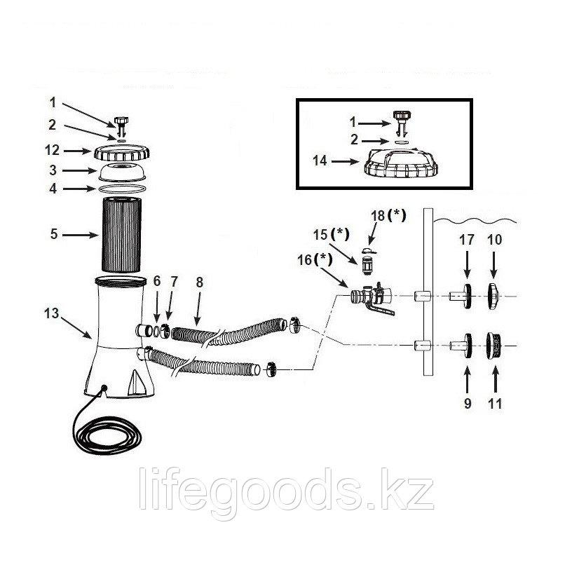 Фильтр - насос для бассейна со скоростью 3785 л/ч, Intex 28638 - фото 6