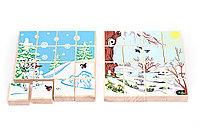 Деревянные пазлы Зима-Весна