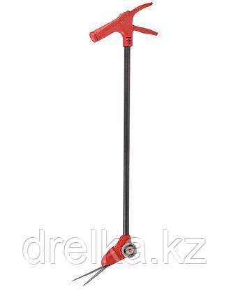 Ножницы садовые GRINDA для стрижки травы, поворотный механизм 180 гр, на удлинителе и подставке с колесиками, фото 2