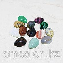 Кабошон капля, ассортимент из натуральных камней