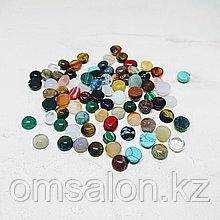 Кабошоны из натуральных камней, 10х5мм