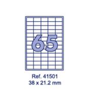 Наклейки А4, 38х21,2мм, 65/лист, 100 листов
