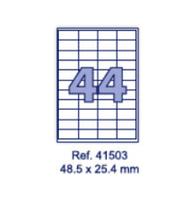 Наклейки А4, 48,5х25,4мм, 44/лист, 100 листов