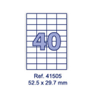 Наклейки А4, 52,5х29,7мм, 40/лист, 100 листов