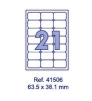 Наклейки А4, 63,5х38,1мм, 21/лист, 100 листов