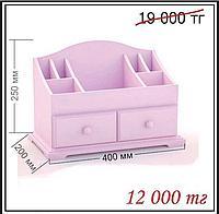Большой  деревянный органайзер для косметики «фиолетовый», фото 1