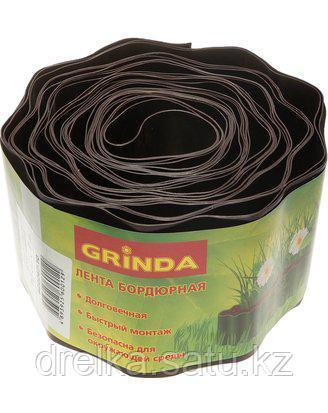 Лента бордюрная Grinda, цвет коричневый, 10см х 9 м, 422247-10