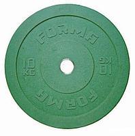 Диск бамперный Forma 10 кг зеленый