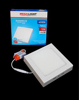 Светильник LED Спот накл. KVADRO/S 12w (MegaLight)